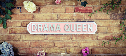 Drama Queen Vintage Road Sign / Street Sign